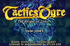 Tactics Ogre - The Knight of Lodis