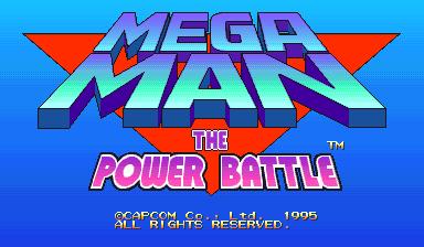 Mega Man: The Power Battle (CPS2, USA 951006, SAMPLE Version)