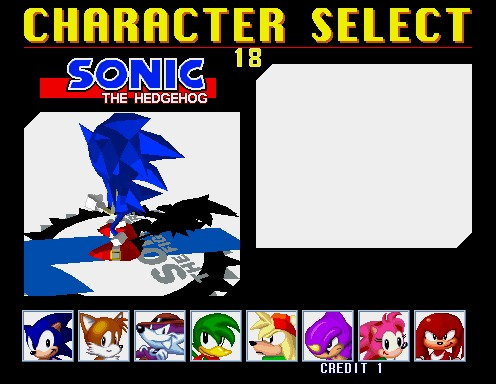 Sonic The Fighters [Model 2B CRX]